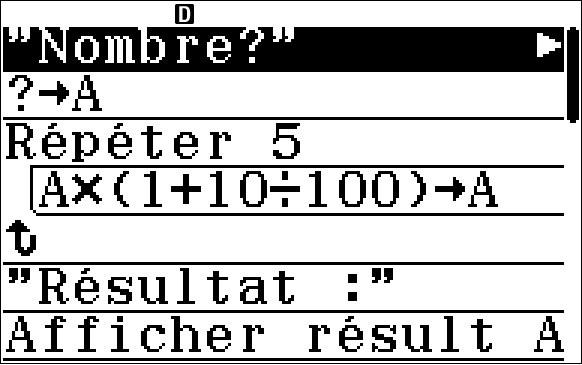 Algorithmique fx-92+ Spéciale Collège