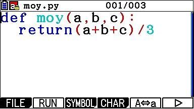 Python CASIO - Éditeur de programmes