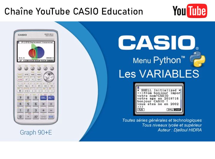 Chaîne YouTube CASIO Education